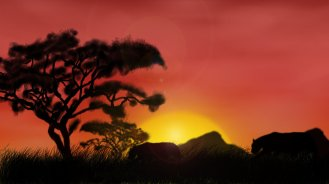 african_sunset_by_sclarke1991-d5io24p